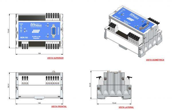Repetidor-Profibus-DP-WDR-703-4