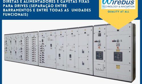 Painel TTA - CCM - Centro de Controle de Motores CCM 3B Gavetas Extraíveis e Gavetas Fixas